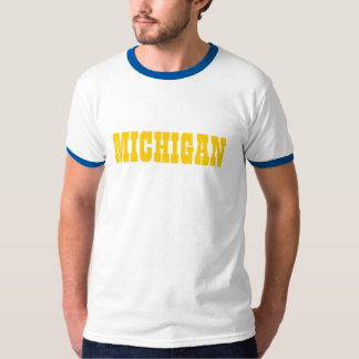 State of MICHIGAN Shirt name Ringer Tee
