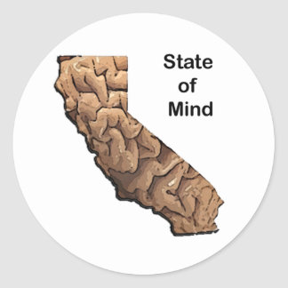 State of Mind: California Classic Round Sticker