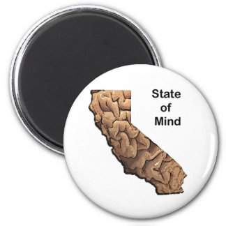 State of Mind: California 2 Inch Round Magnet
