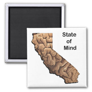 State of Mind: California 2 Inch Square Magnet