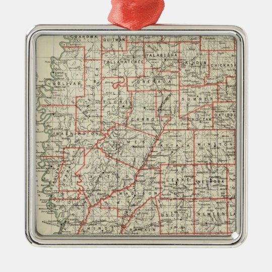 State of Mississippi Metal Ornament