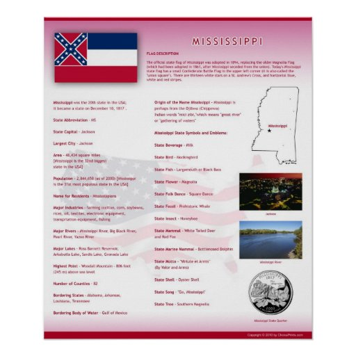 State of Mississippi,MS Posters