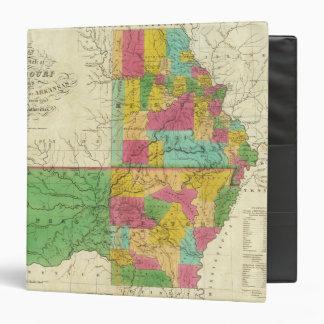 State of Missouri and Territory of Arkansas Vinyl Binder