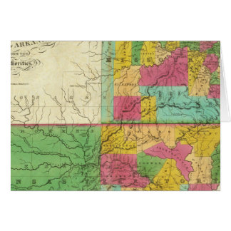 State of Missouri and Territory of Arkansas Greeting Card