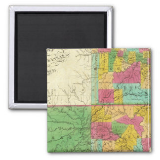 State of Missouri and Territory of Arkansas Magnets