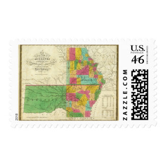 State of Missouri and Territory of Arkansas Postage Stamp
