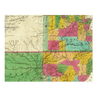 State of Missouri and Territory of Arkansas Postcard