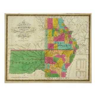 State of Missouri and Territory of Arkansas Poster