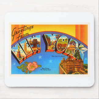 State of New #2 York NY Vintage Travel Souvenir Mouse Pad