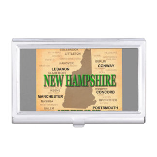State of New Hampshire Map, concord, Manchester Business Card Case