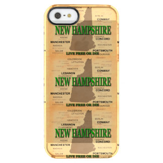 State of New Hampshire Map, concord, Manchester Clear iPhone SE/5/5s Case