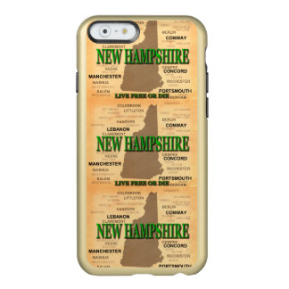 State of New Hampshire Map, concord, Manchester Incipio Feather® Shine iPhone 6 Case