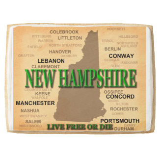 State of New Hampshire Map, concord, Manchester Shortbread Cookie