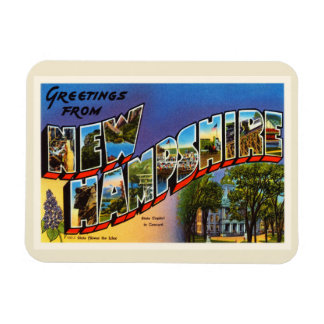 State of New Hampshire NH Vintage Travel Souvenir Magnet