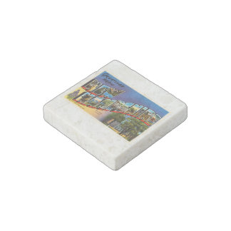 State of New Hampshire NH Vintage Travel Souvenir Stone Magnet