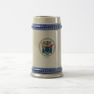 State of New Jersey Seal Beer Stein