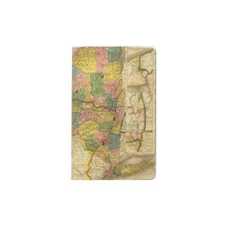 State of New York by DH Burr Pocket Moleskine Notebook Cover With Notebook