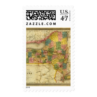 State of New York by DH Burr Postage