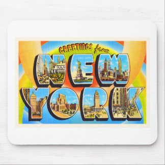 State of New York NY Old Vintage Travel Souvenir Mouse Pad