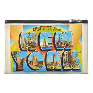 State of New York NY Old Vintage Travel Souvenir Travel Accessory Bag