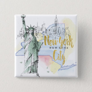 State of New York | Statue of Liberty Button