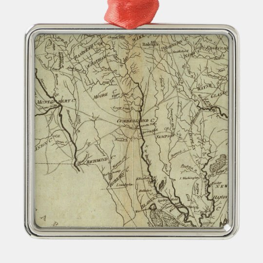 State of North Carolina 2 Metal Ornament