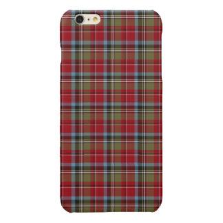 State of North Carolina Tartan Glossy iPhone 6 Plus Case