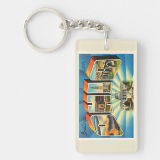 State of Ohio #2 OH Old Vintage Travel Souvenir Keychain