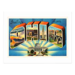 State of Ohio #2 OH Old Vintage Travel Souvenir Postcard