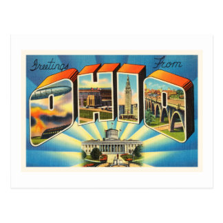 State of Ohio #2 OH Old Vintage Travel Souvenir Postcard