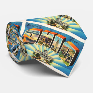 State of Ohio #2 OH Old Vintage Travel Souvenir Tie