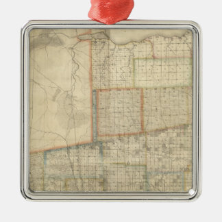 State of Ohio 2 Square Metal Christmas Ornament
