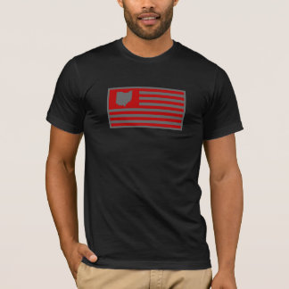 State of Ohio - American Flag T-Shirt