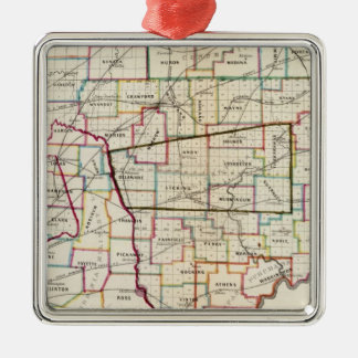 State of Ohio Metal Ornament