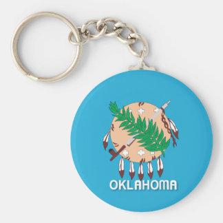 State of Oklahoma flag Keychain