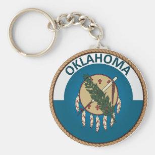 State of Oklahoma Flag Seal Keychain