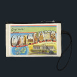 """State of Oklahoma OK Old Vintage Travel Souvenir Change Purse<br><div class=""""desc"""">State of Oklahoma OK  A nostalgic,  vintage travel souvenir postcard image,  an authentic retro design. Greetings from the American Travelogue Virtual Touring Company!</div>"""