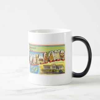 State of Oklahoma OK Old Vintage Travel Souvenir Magic Mug