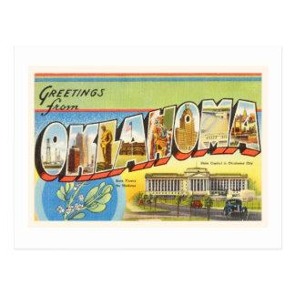 State of Oklahoma OK Old Vintage Travel Souvenir Postcard