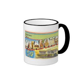 State of Oklahoma OK Old Vintage Travel Souvenir Ringer Mug