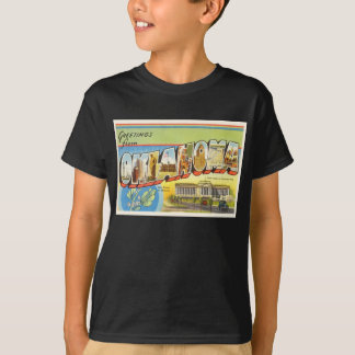 State of Oklahoma OK Old Vintage Travel Souvenir T-Shirt