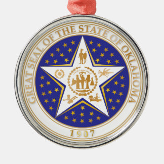 State of Oklahoma seal Metal Ornament