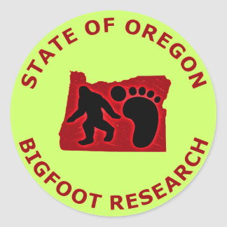 State of Oregon Bigfoot Research Classic Round Sticker