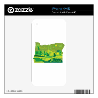 State of Oregon Map Environment Eco Outline Skins For iPhone 4