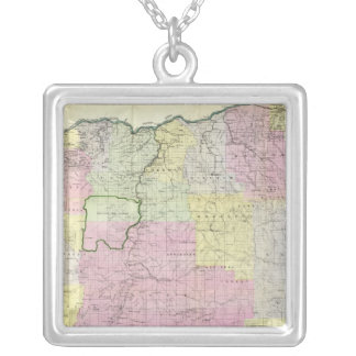 State of Oregon Silver Plated Necklace