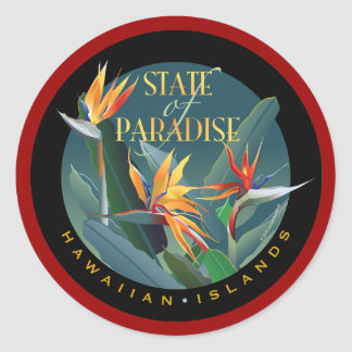 State of Paradise Classic Round Sticker