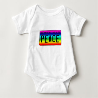 State of Peace Baby Bodysuit
