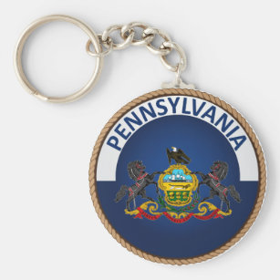 State of Pennsylvania Flag Seal Keychain