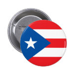 State of Puerto Rico flag Pinback Button