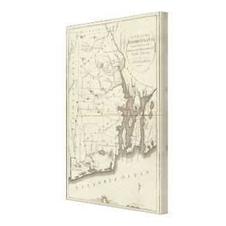 State of Rhode Island 2 Canvas Print